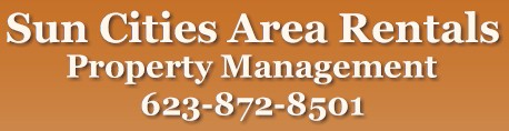 Sun Cities Area Rentals logo.